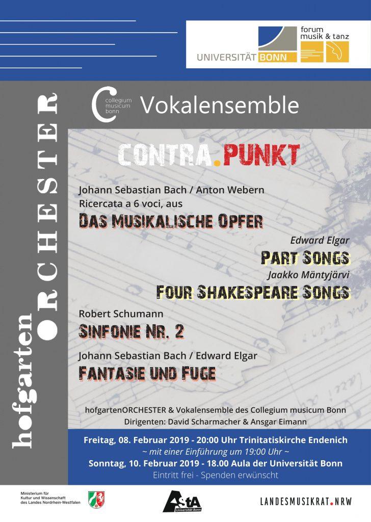 Wintersemester 18/19 – Vokalensemble